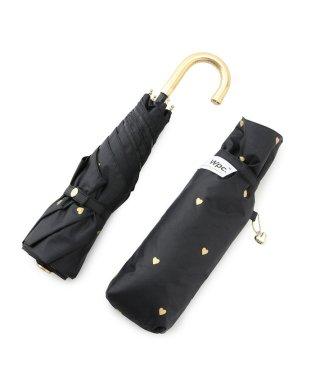【晴雨兼用】【UV加工】遮光ゴールドプチハートミニ傘