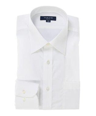 形態安定スリムフィットブロードレギュラーカラー長袖シャツ
