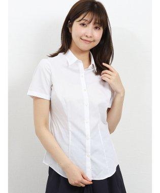 形態安定レギュラーカラー半袖ツイルシャツ