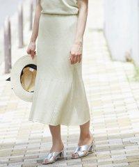 【ドラマ着用】【セットアップ対応】オーガニックコットンリブニットスカート
