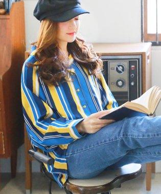 【3柄から選べる】柄開襟ボリュームシャツ/トップス