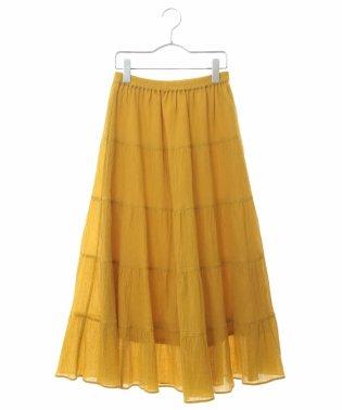 【洗える】コットン楊柳ティアードスカート