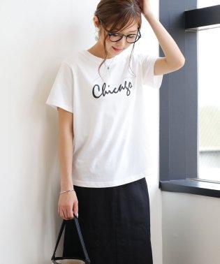 chicagoロゴプリント半袖Tシャツ