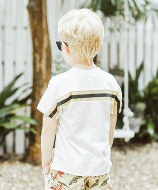 バックラインプリント半袖Tシャツ(80~150cm)