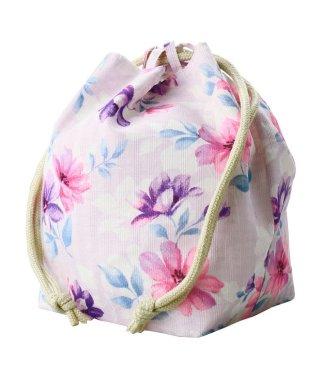 中花柄巾着バッグ
