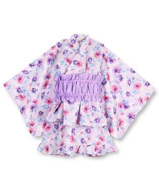 中花柄セパレート浴衣(90~130cm)