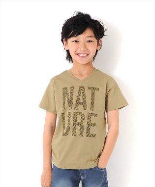 ネイティブロゴVネック半袖Tシャツ