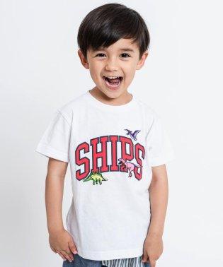 SHIPS KIDS:ロゴ×恐竜 プリント TEE(100~130cm)