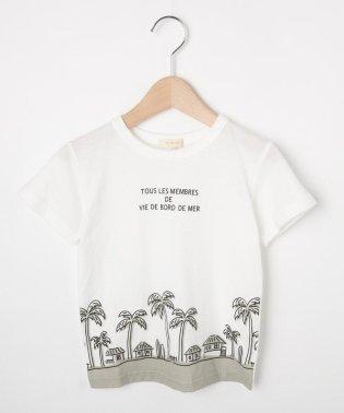 【90-140cm】吸水速乾/マリンテイストTシャツ