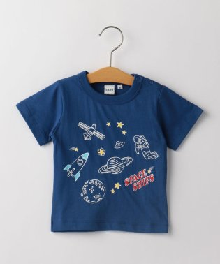 SHIPS KIDS:ジャーニー&スペース プリント TEE(80~90cm)