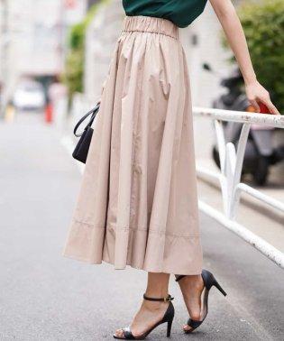 【洗える】ロングギャザースカート
