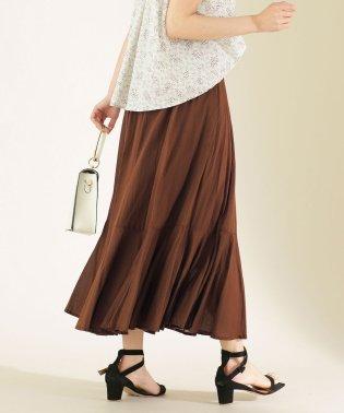 コットンボイル切り替えスカート