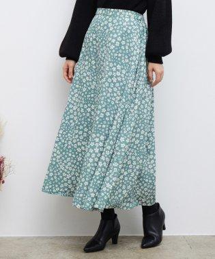 【WEB限定】ドットフラワースカート