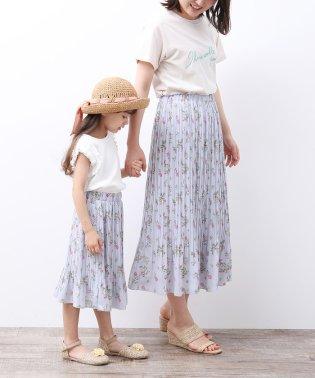 【ROPE' PICNIC KIDS】フラワープリーツスカート