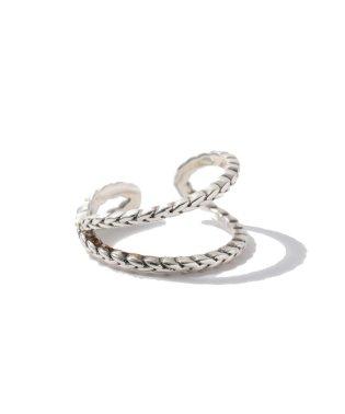 【WEB限定】◎PHILIPPE AUDIBERT(フィリップオーディベール)ツイストクロスリング SIL / Fillan ring