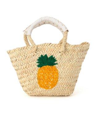 SHIPS KIDS:パイナップル ミニ カゴバッグ