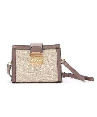 ◆ベルテッド異素材ボックスショルダーバッグ