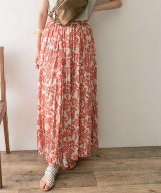 楊柳花柄プリントスカート