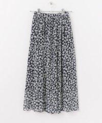 シフォン花柄プリントスカート