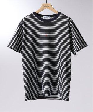 STONE ISLAND / ストーン アイランド MARINA ボーダーロゴプリントTシャツ