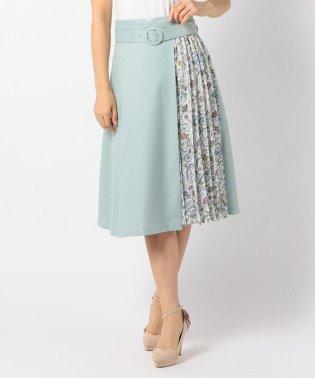 花柄プリーツアシメスカート