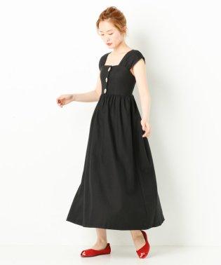 スクエアネックキャミドレス