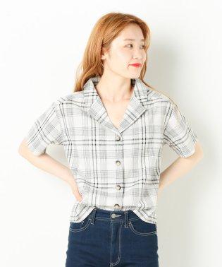チェックオープンカラー半袖シャツ