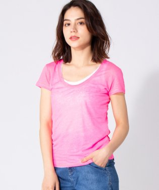 【MAJESTIC】リネンレイヤードTシャツ