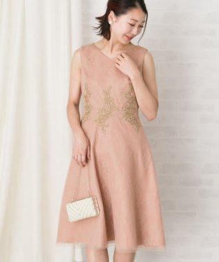 フラワーモチーフレースドレス