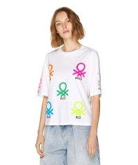 ネオンカラーブランドロゴオーバーサイズTシャツ