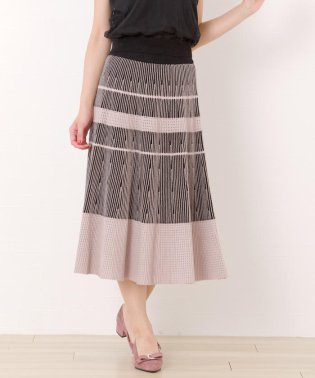 セットアップ対応配色ニットスカート