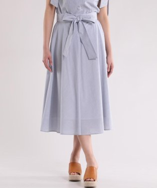 サッシュリボン付きAラインスカート