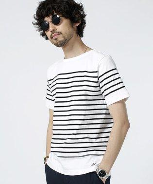 米綿パネルボーダーバスクシャツS/S