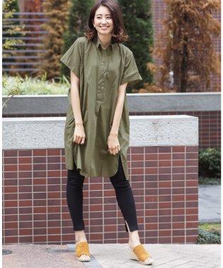 レディース 綿ローン シャツ ワンピース