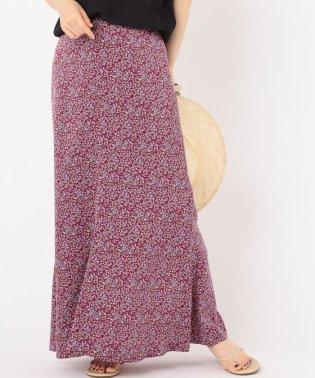 Prefer SHIPS:フラワープリントマーメイドスカート pink◇