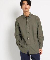 綿麻ロング丈長袖シャツ