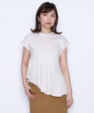 【スール soeur7】アシンメトリー ラッフル カットソー
