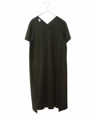 【洗濯機で洗える】バックシャンジャージードレス