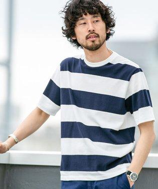 【WEB限定】梨地ワイドボーダーTシャツ 半袖