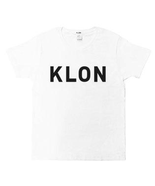 KLON Tshirts LARGE LOGO WHITE