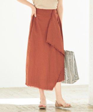 ツイルフリンジラップスカート