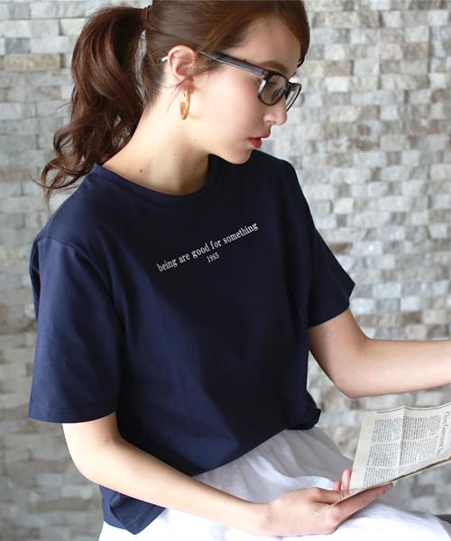 英字ロゴTシャツ