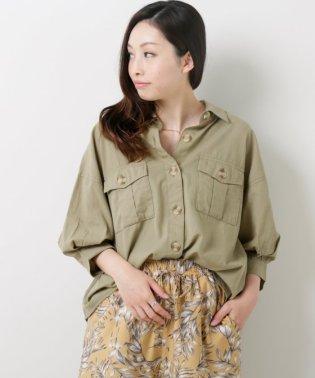 綿麻ビックシャツ