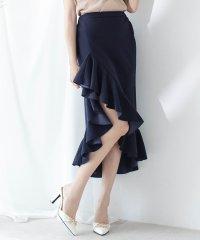 マーメイドフリルミディアム丈スカート/520056