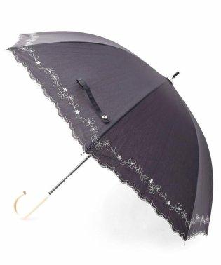 晴雨兼用刺繍フラワー長傘