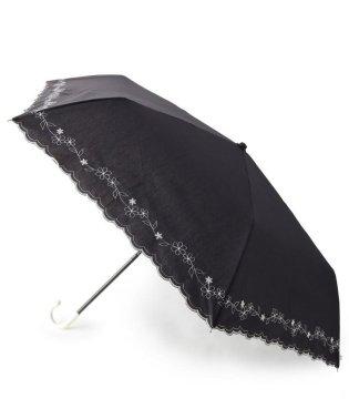 晴雨兼用刺繍フラワー折り畳み傘