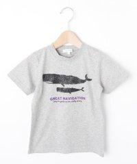【コットン100%】【90cm~150cm】クジラプリントTシャツ