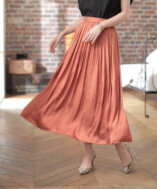 ★サテンギャザースカート