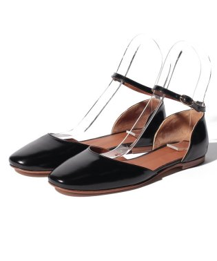 【SHIPS for women】DIVINA:CALF ANKLE STRAP FLAT