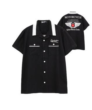 Devilcats MOTORCYCLE ボーイズ 開襟シャツ 36257AY433031A